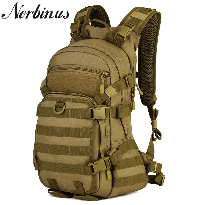 Norbinus Men's Backpacks Durable Nylon Military Army Rucksack Laptop Backpack Male School Bag Travel Trekking Bagpacks for Men 30l men s women military backpacks waterproof nylon fashion male laptop backpack female travel rucksack camouflage army hike bag