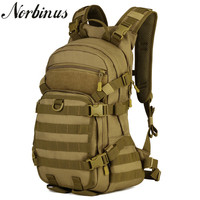 Norbinus Men's Backpacks Durable Nylon Military Army Rucksack Laptop Backpack Male School Bag Travel Trekking Bagpacks for Men