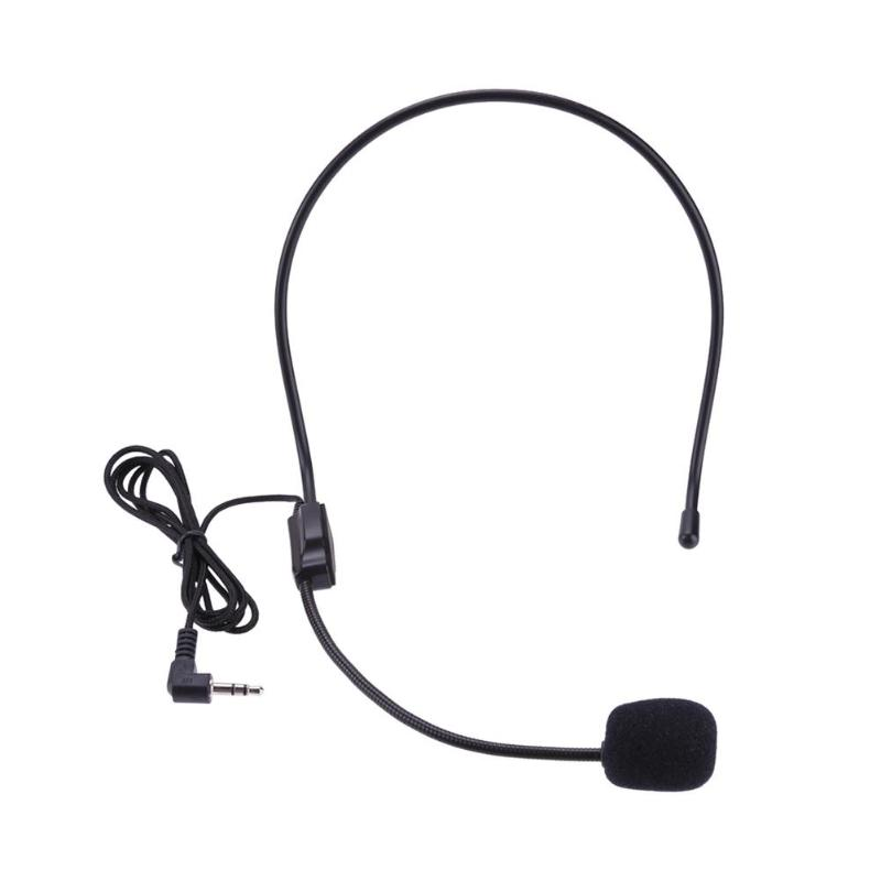 Portable Wireless Headset Microphone Wired 3.5mm Jack