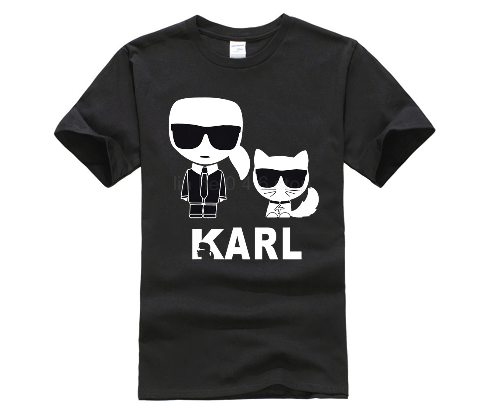 2019 Karl Lagerfeld T Shirt Men Hot Sale Summer Tshirt New Print Karl Lagerfeld T-shirts Men's Fashion