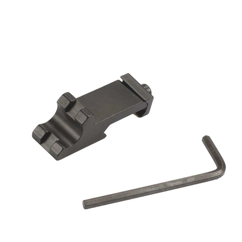Hunting 20mm Laser Picatinny Weaver Scope Rail Mount  45 Degree Angled Offset Side Rail Adapater For Hunting Tactical Rifle Caza