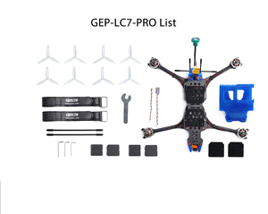 Image 5 - GEPRC Crocodile 7 Pro Long Range FPV Drone 315mm Frame 2306 1600kv motors DALProp T7056C Props Runcam Micro Swift FPV Camera