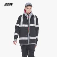 VIISHOW new fashion jacket coat men brand clothing Retro fashion Sequin patchwork jackets male quality outerwear black JC1652183