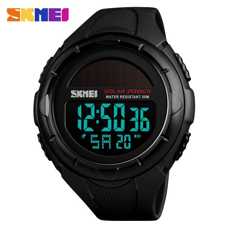 United Skmei 1405 Solar Watch Digital Watches Men Led Solar Military Male Clock Men Wristwatches Quartz Sports Watch Relogio Masculino Crease-Resistance Men's Watches Quartz Watches