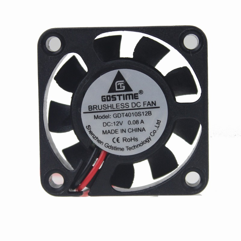10Pcs Brushless DC Cooling Fan 40x40x10mm 4010 9 Blades 12V 2pin Connector