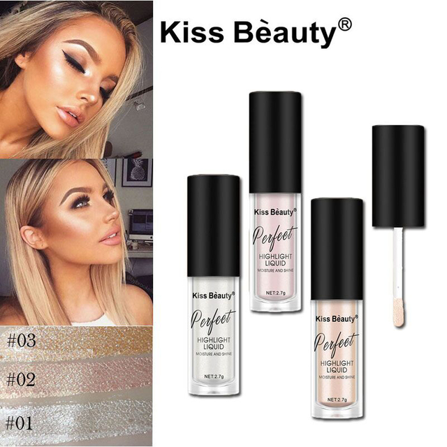 649236e506fd US $0.99  Brand Makeup Face Glow Liquid Highlighter Contouring Makeup Face  Brightener Concealer Primer Base Bronzer Contour Stick Cosmetic-in Bronzers  ...