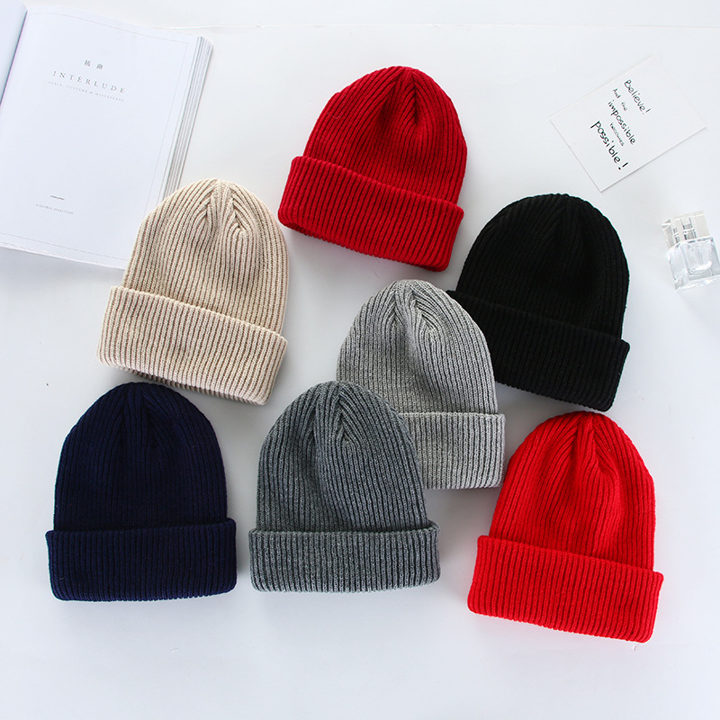 2019 NEW Men Women Fashion Knit Baggy Beanie Oversize Winter Hat Ski Winter Knitted Cap Woman Solid Color Hip Hop Boys Girls(China)