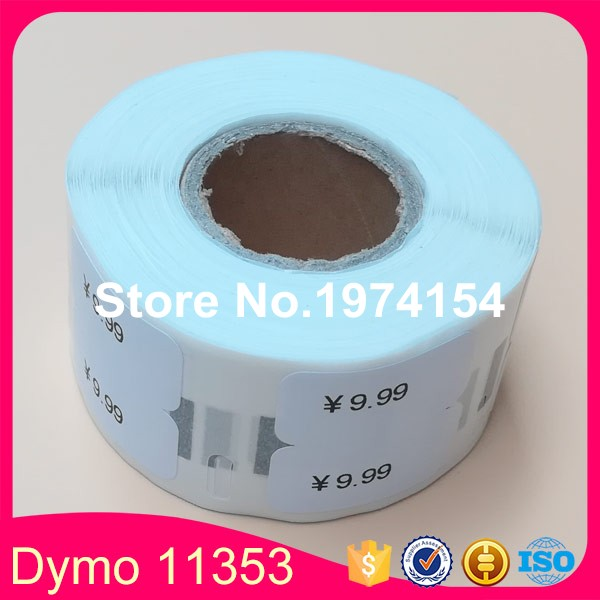100 Rolls Dymo Compatible Label 11353 Free Shipping Dymo11353 Labels 24 x 12mm 1000pcs