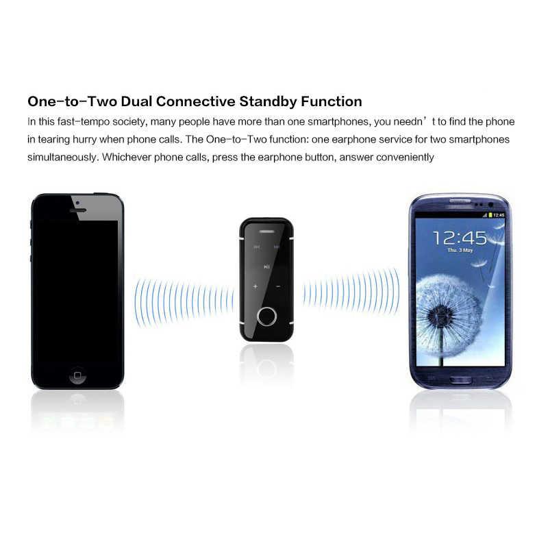 DAONO i6s Bluetooth наушники беспроводной громкой связи гарнитура с микрофоном Звонки голос напомнить носить клип драйвер