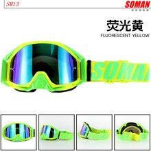 100% Original SOMAN Brand SM13 Motocross Goggles ATV Casque Motorcycle Glasses R