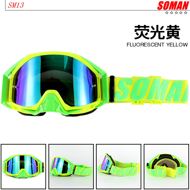 100% Original SOMAN Brand SM13 Motocross Goggles ATV Casque Motorcycle Glasses Racing Off Road Moto Bike Sunglasses image