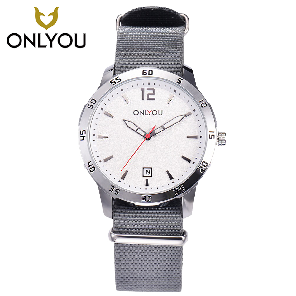 ONLYOU Charm Reloj de moda Casual Nylon Banda de reloj Relojes de - Relojes para hombres - foto 1