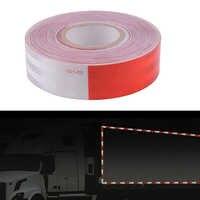 Cinta de 5 cm X 50 m roja y blanca-Cinta de conspicidad DOT-C2-rollo comercial coche/camión/ remolque/barco