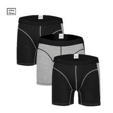 3 Pcs/Lot hommes boxer sous-vêtements pantalon de coton hommes solide boxeur shorts lâche calecon pour homme hommes sous-vêtements boxers long jambe