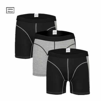 3Pcs/Lot men\'s boxer underwear pants cotton men solid boxer shorts loose calecon pour homme mens underwear boxers long leg - DISCOUNT ITEM  43 OFF Underwear & Sleepwears