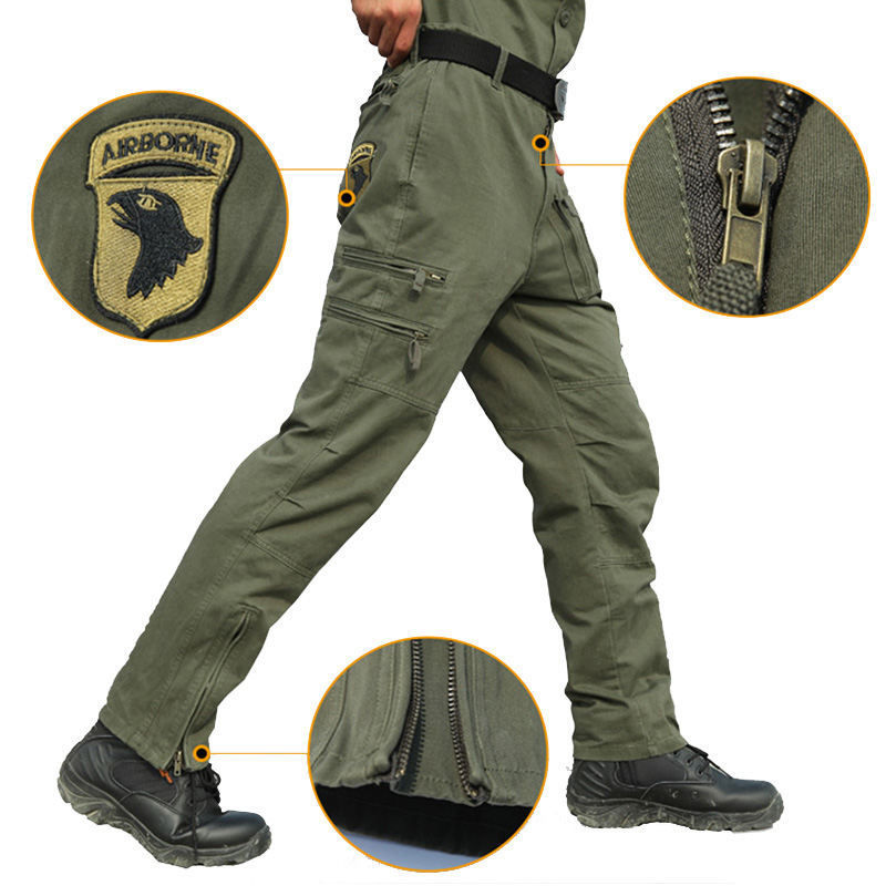 Tactical Military Combat Pants Men 101 Airborne Cotton Trouser Multi Pocket Army Men's Cargo Pants Soft Military Work Clothing