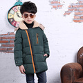 2016 new boys coat fur collar thick Coat winter coat big virgin