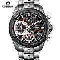 Reloj Hombre мужские часы Топ бренд класса люкс светящиеся Военные Спортивные кварцевые часы мужские часы хронограф наручные часы Montre Homme