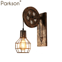 Loft Retro lamp lifting pulley Vintage led Wall lamp dining room restaurant aisle corridor pub cafe wall light wandlamp bathroom