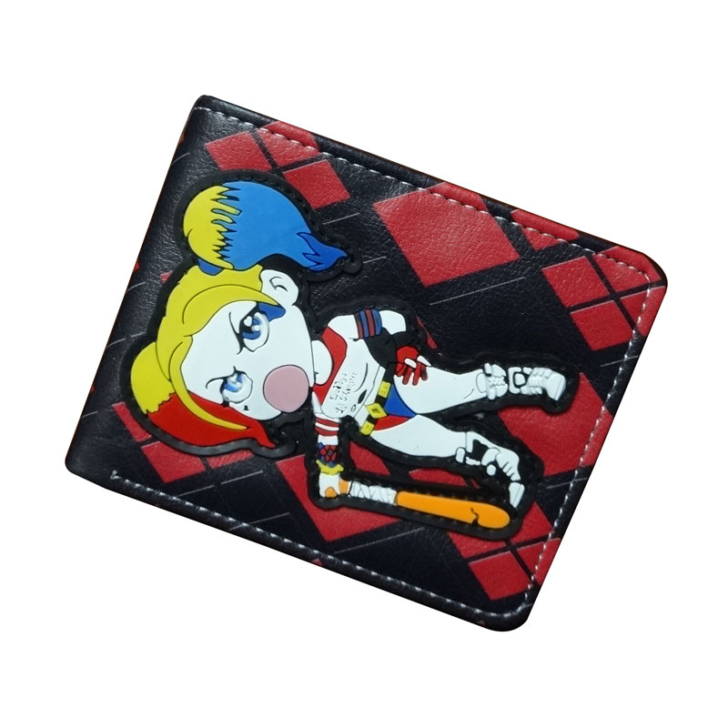 Fashion Cartoon Leather Purse Anime Suicide Squad Lovely Girl Wallets portefeuille femme Creative Gift Kids Short Wallet