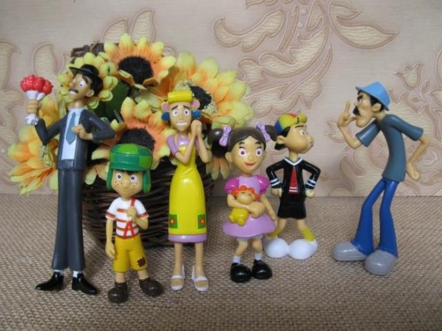 pvc figure El Chavo Kart doll ornaments 6pcs/set ...