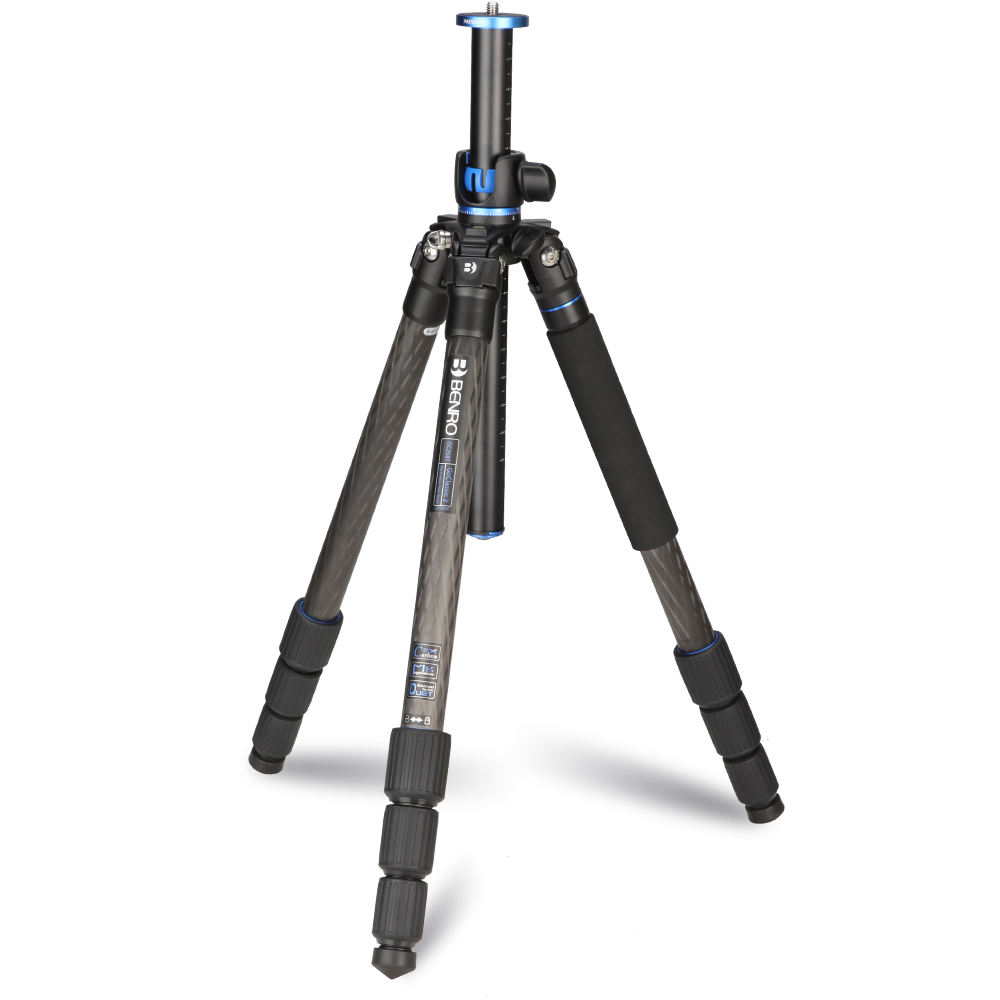 Benro GC258T Tripod Carbon Fiber Tripods Monopod For Camera 4 Section Carrying Bag Max Loading 14kg DHL Free Shipping benro a49t monopod professional aluminium monopods for camera without 3 leg locking base 5 joint max load 25kg dhl free shipping