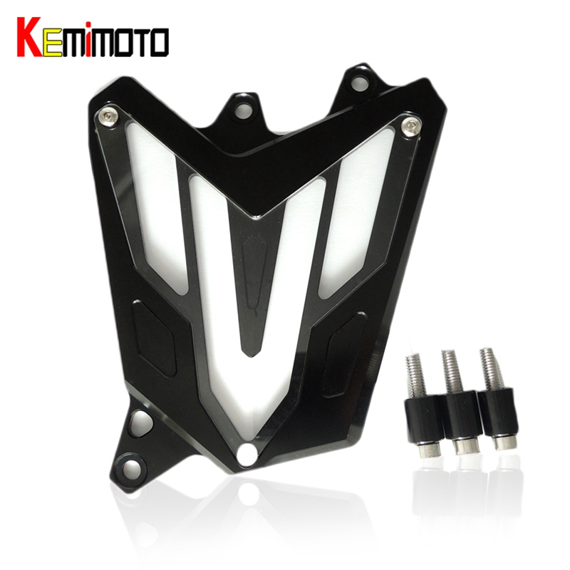 KEMiMOTO MT 07 CNC Aluminum Front Sprocket Cover Motorcycle Part For YAMAHA MT-07 FZ-07 MT07 FZ07 2014 2015 2016 for yamaha mt 07 mt 07 fz07 mt07 2014 2015 2016 accessories coolant recovery tank shielding cover high quality cnc aluminum