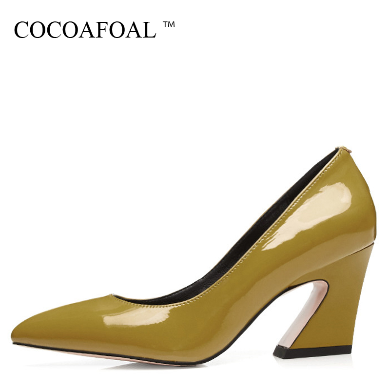 COCOAFOAL Woman Pink High Heels Shoes Fashion Sexy Stiletto Black Pumps Plus Size 34 - 42 Pointed Toe Party Wedding Pumps 2018 sexy fashion womens platform pumps strappy buckle high heels shoes big size shoes black beige yellow pink white