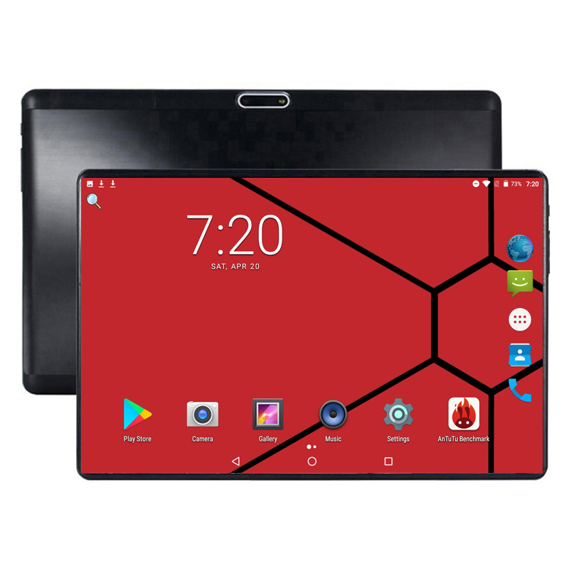 Super Tempered 2.5D Glass 10 Inch Tablet Android 8.0 Octa Core 6GB RAM 64GB ROM 8 Cores 1280*800 IPS Screen Tablets 10.1 + Gift