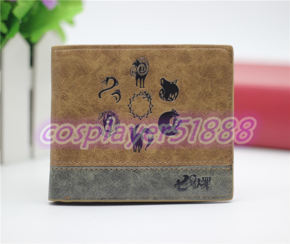 Japan anime The Seven Deadly Sins wallet cosplay billfold men&women students personality short cartoon fashion purse cool gift anime the seven deadly sins meliodas