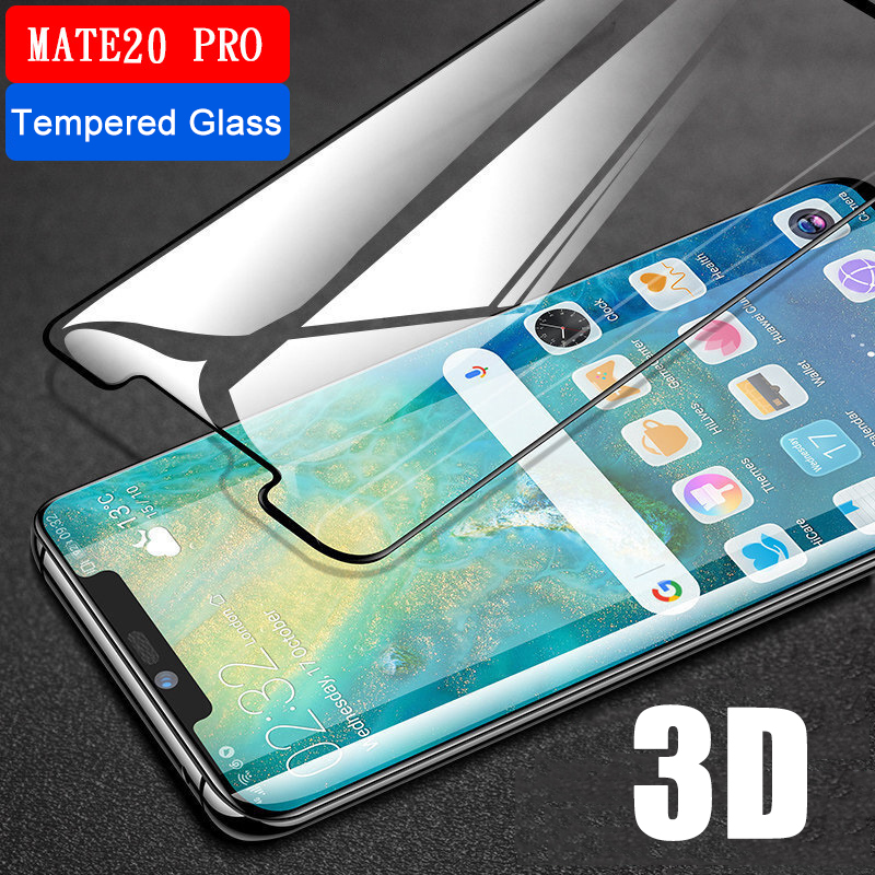 3D Curved tempered glass cover for Huawei Mate 20 Lite Case on the for Huawei Mate 20 Pro Mate20 20Lite 20Pro protective glass  (China)