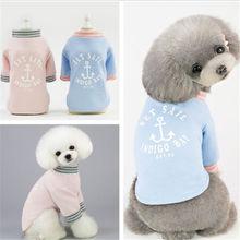 2019  Spring and Summer Cute Sailor Pet T-Shirt new Small Dog Cat T-shirt dog clothing