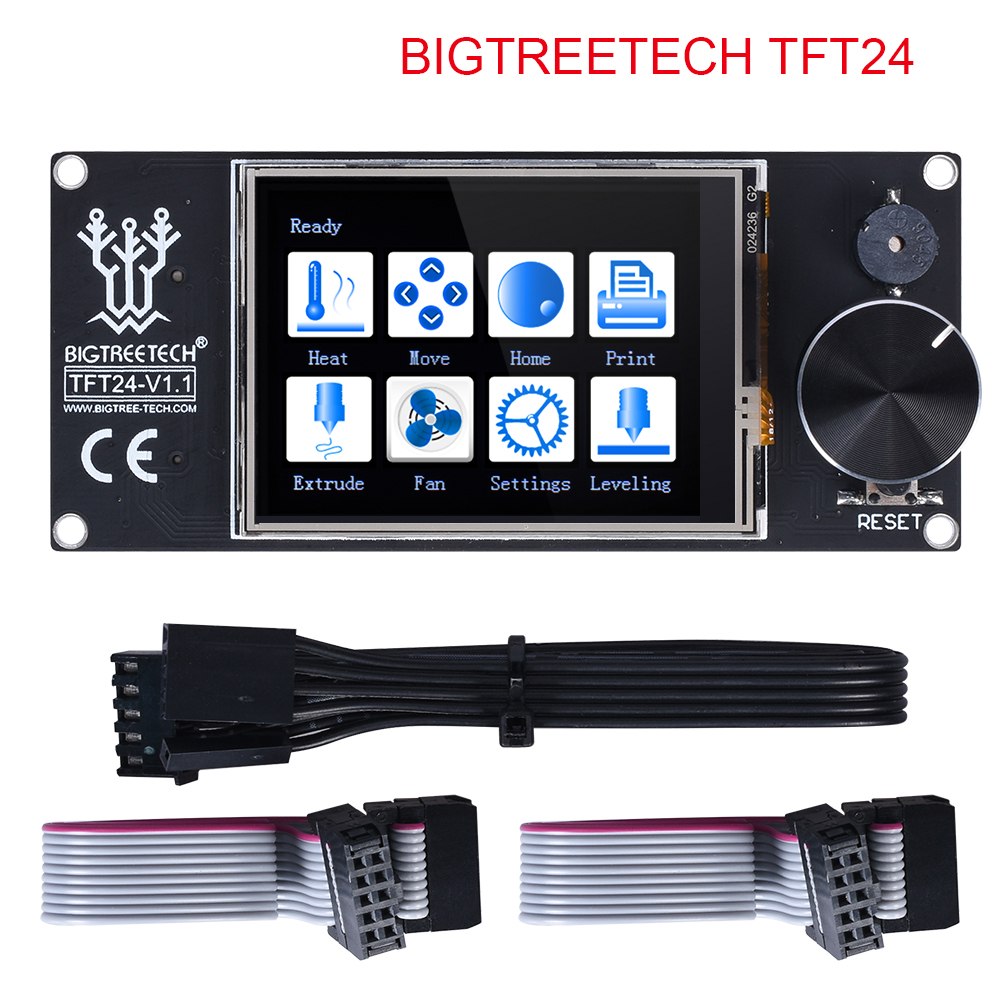 BIQU BIGTREETECH TFT24 V1.1 Color Screen With Touch Screen and 12864 LCD Display Mode For MKS SKR V1.3 PRo Ender 3 3D Board