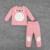 Páscoa feliz Totoro Impressão Conjuntos de Roupas de Bebê Crianças Primavera Outono de Manga Longa Top + Calças Para Crianças Desgaste Bebê Para Casa pijama