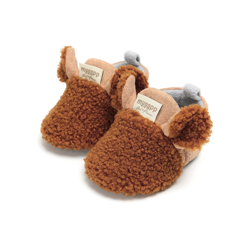 Brand New Toddler Newborn Baby Crawling Shoes Boy Girl Lamb Slippers Prewalker Trainers Fur Winter Animal Ears First Walker