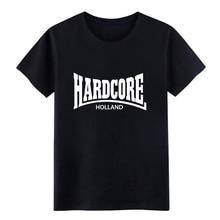 Mens Hardcore Holland t shirt Designing 100% cotton Crew Neck Original Gift Authentic summer Trend