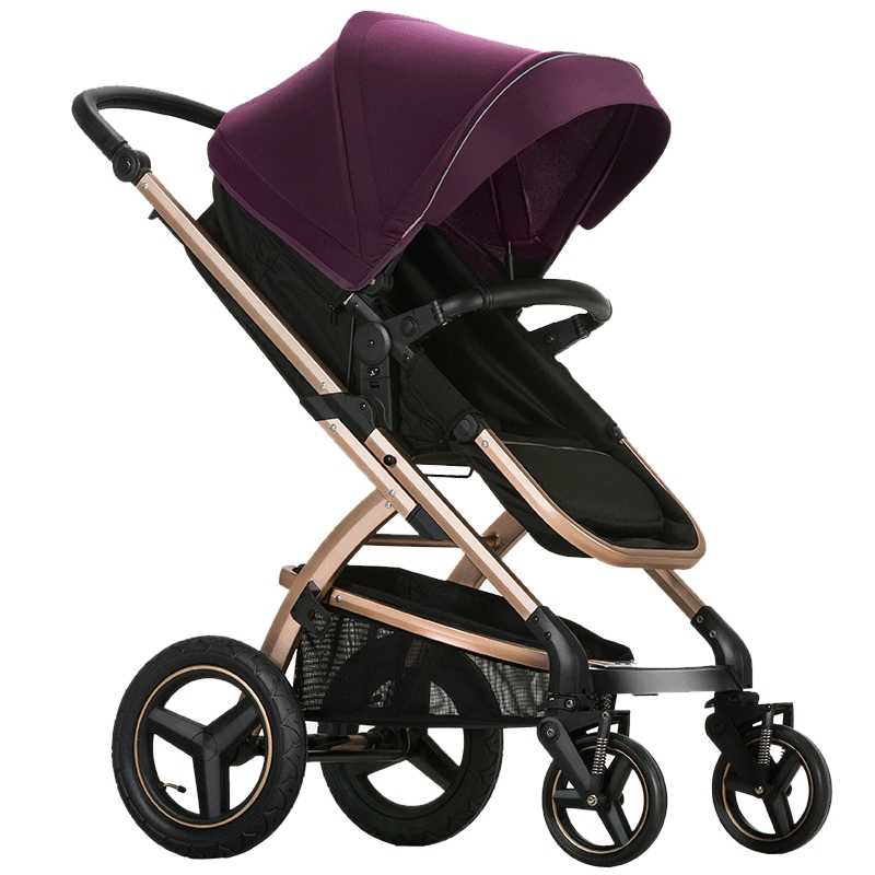 Pouch Baby trolly with  High Landscape Baby Car Can Sit and Lie Fold Baby Stroller portable