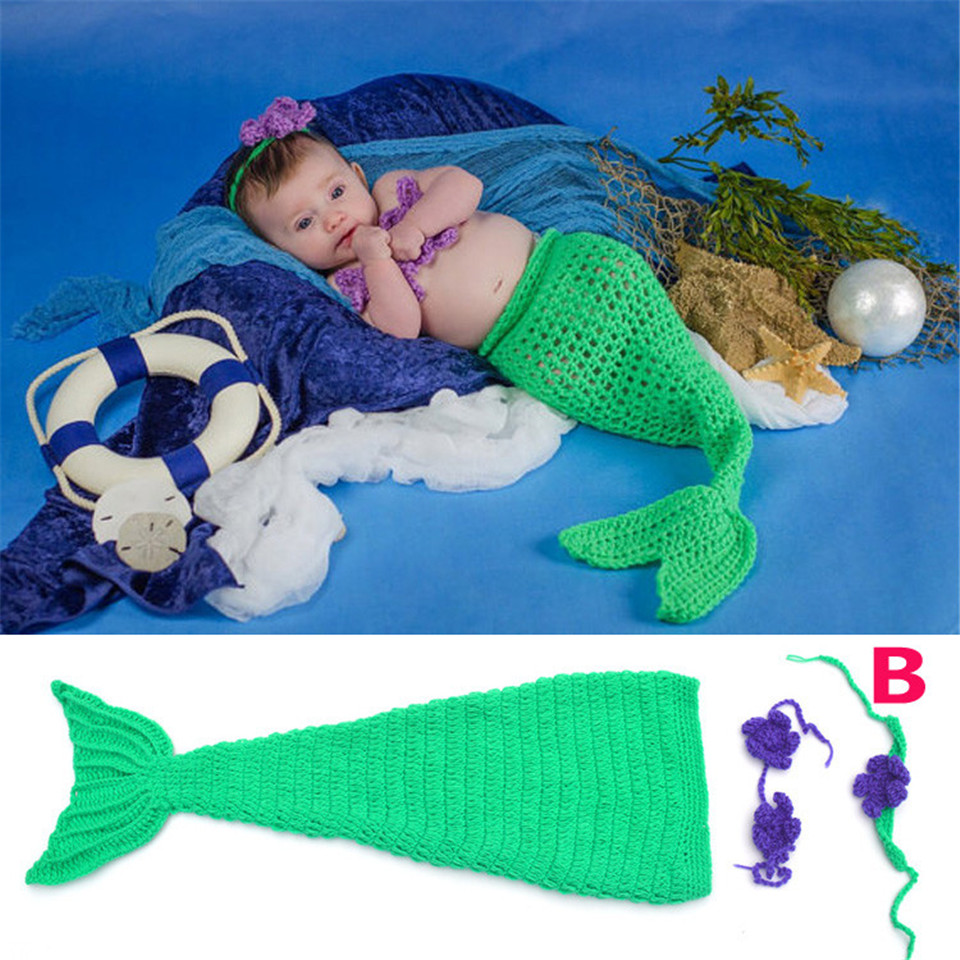 baby girl mermaid costume infant baby mermaid tail outfits crochet mermaid baby photo prop baby halloween - Baby Mermaid Halloween Costume