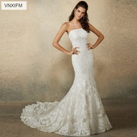 VNXIFM 2019 Mermaid Lace Married Wedding Dress White Petticoat Flower Girl Gowns Veil Marriage Customer Made Size Free Shipping