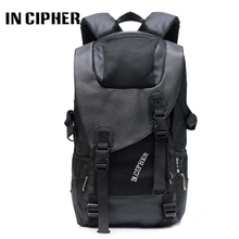 "Фотография In Cipher Oxford Backpack 15""17""Laptop Notebook For  Men And Female Korean Version Solid Color  Leisure Outdoor Travel Backpack"
