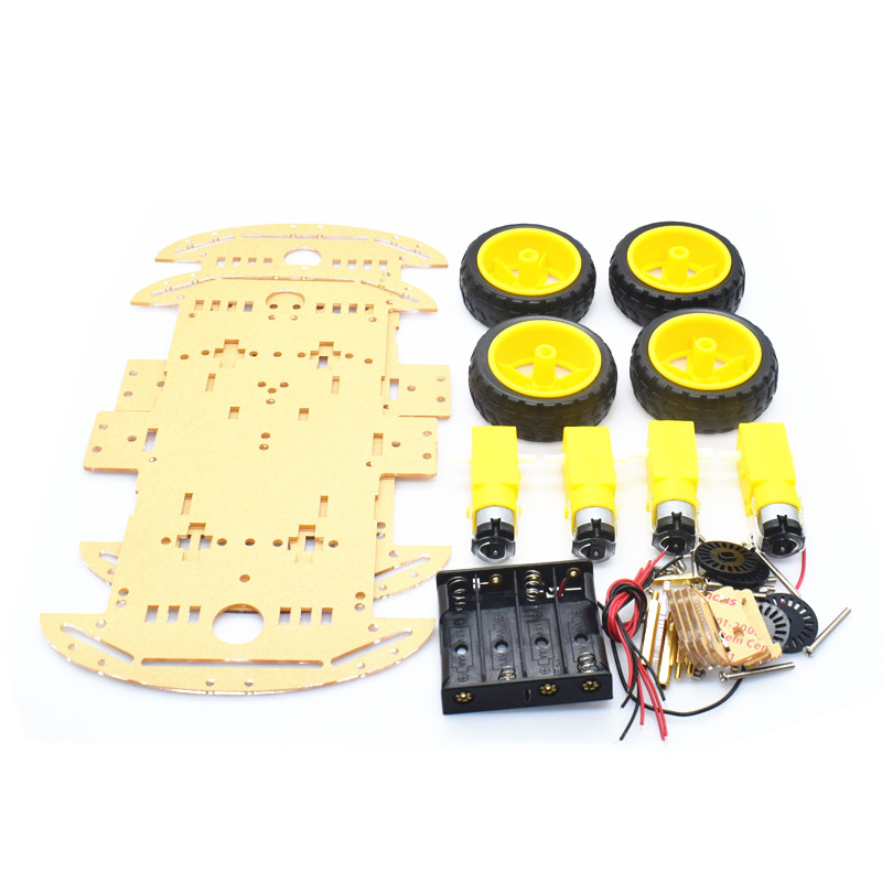 4WD Smart Robot Car Chassis Kits with Speed Encoder and Battery Box for arduino Diy Kit