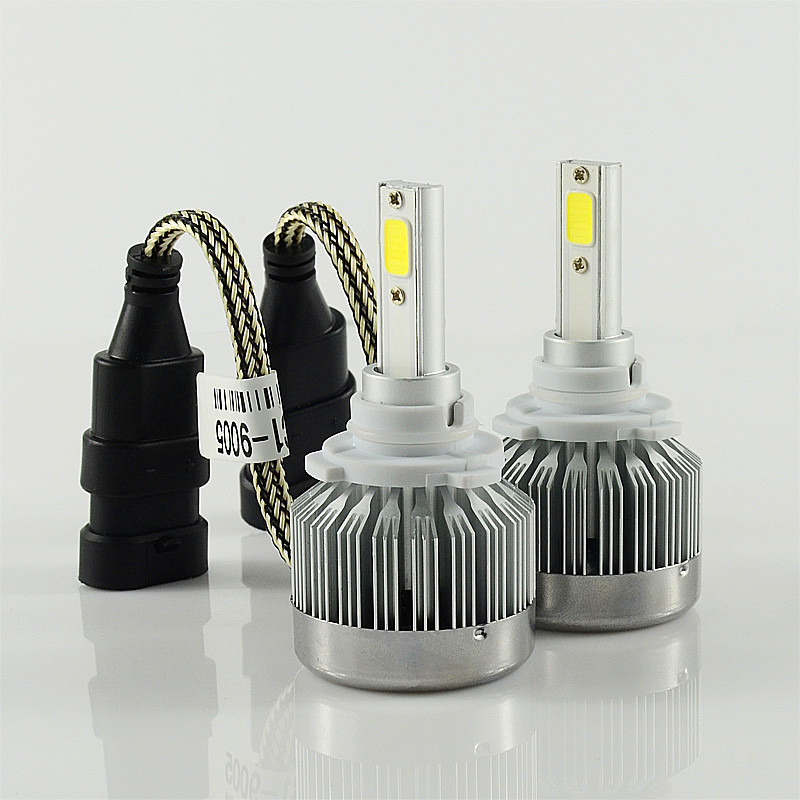 Free shipping one kit Super Bright 6000lM Car Headlight HB3/9005 60W COB LED Auto Front Fog Bulb Automobile Headlamp 6000k 2pcs set 72w 7200lm h7 cob led car headlight headlamp auto lamps led kit 6000k headlight bulb light car headlight fog light
