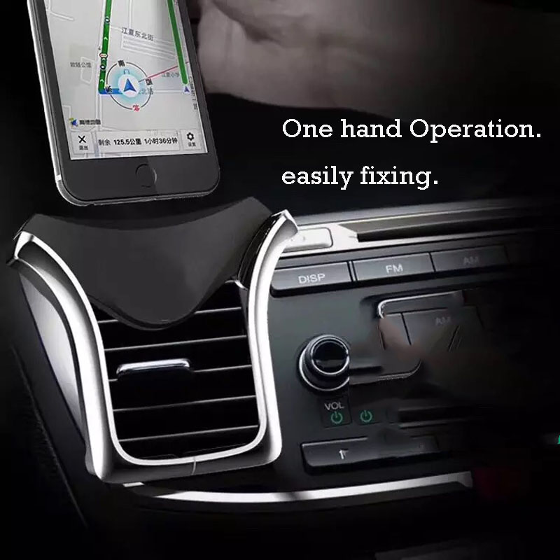 Image 3 - Air vent phone Holder Gravity phone Stand Universal for iPhone Samsung for Xiaomi redmi Huawei HTC in Car Air vent Mount Bracke-in Phone Holders & Stands from Cellphones & Telecommunications