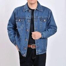 Мужская верхняя одежда ковбойские куртки одежда 2019 осень и зима большой размер куртка пальто Мужская Кнопка Повседневная синяя джинсовая куртка S-4XL