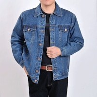 men's outwear cowboy jackets clothing 2019 Autumn and winter Large size jacket coat male button casual blue denim jacket S 4XL
