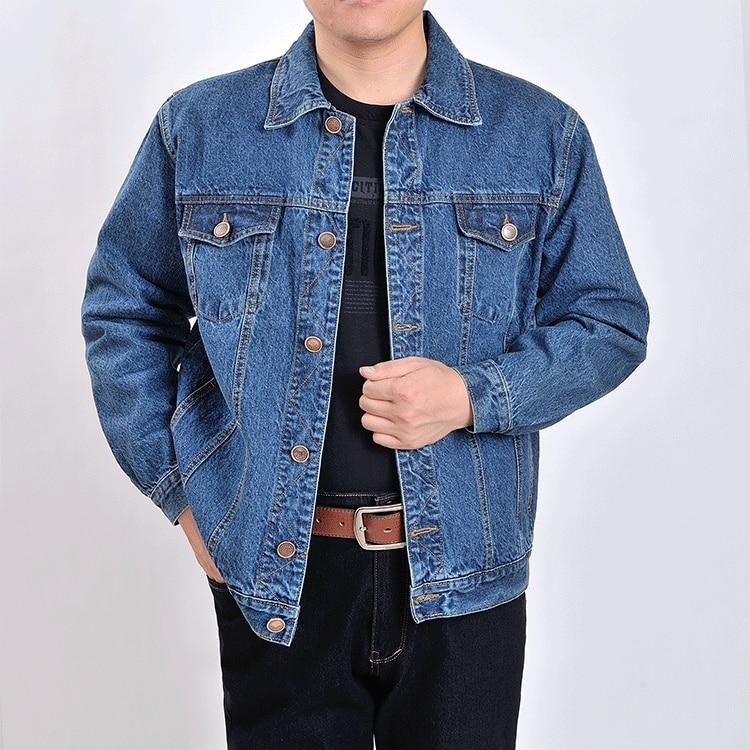Men's Outwear Cowboy Jackets Clothing 2019 Autumn And Winter Large Size Jacket Coat Male Button Casual Blue Denim Jacket S-4XL