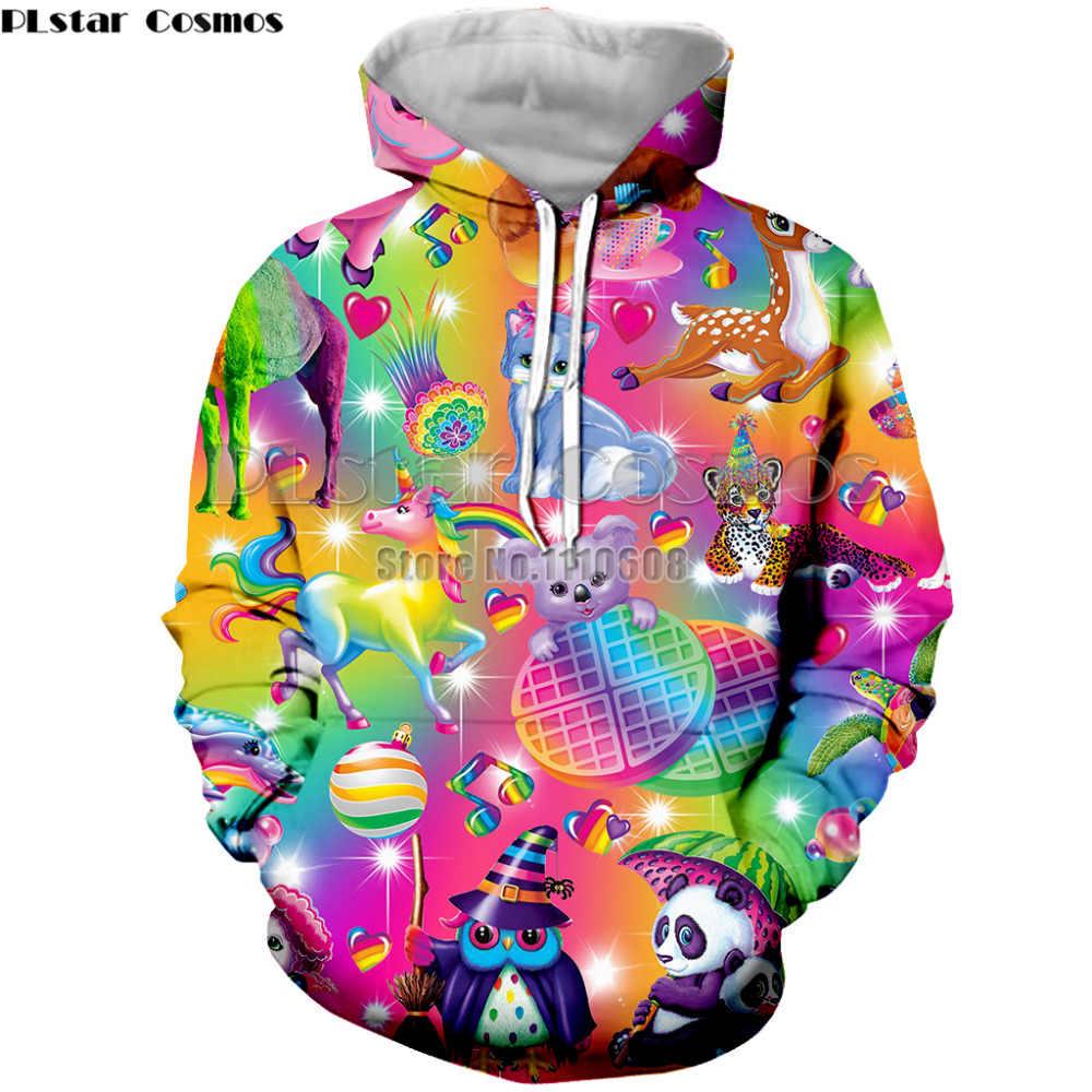Весенне-осенняя Толстовка для мужчин/женщин с 3D принтом Lisa Frank спортивная одежда с длинным рукавом мужской пуловер Одежда Толстовки курточка для спортивного костюма