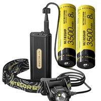 NITECORE HC70 головного света CREE XM L2 U2 Светодиодный max 1000LM луч расстоянии 182 м аккумуляторная фар открытый фары + аккумулятор