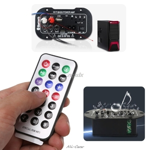 Image 1 - New Car Bluetooth HiFi Bass Power AMP Stereo 220V Digital Amplifier USB TF Remote For Car Home Accessories