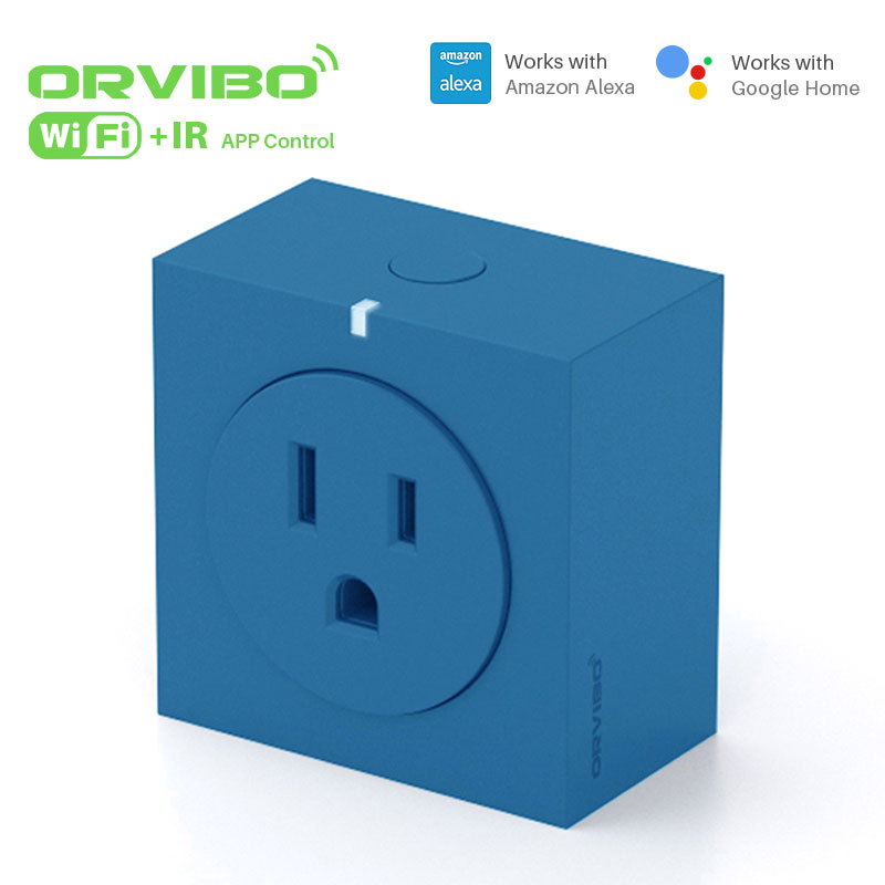 3 Pack, Multicolored ORVIBO S31 WiFi Smart Plug Energy Monitoring Remote Control Outlet Switch with Programmable Timer Google Assistant Compatible Voice Control Alexa Echo No Hub Needed